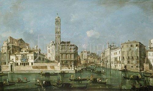 Francesco Guardi: Der Canal Grande bei San Geremia. Um 1760.