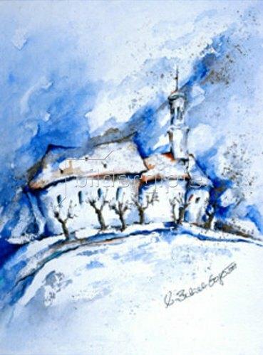 Annette Bartusch-Goger: Kobelkirche im Winter.  2001