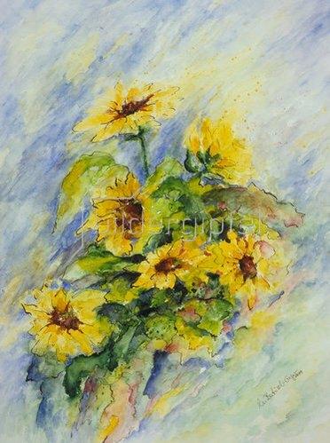 Annette Bartusch-Goger: Sonnenblumen.  1999