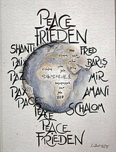 Annette Bartusch-Goger: Frieden weltweit  (Peace).  1997