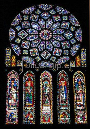 Glasfenster in der Kathedrale von Chartres
