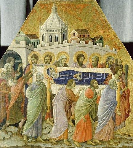 Duccio di Buoninsegna: Die Beerdigung der hl.Jungfrau.