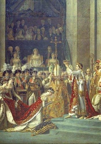 Jacques Louis David: Krönung Napoleons I. u. Kaiserin Josephines i. Notre-Dame, Detail 1806/07