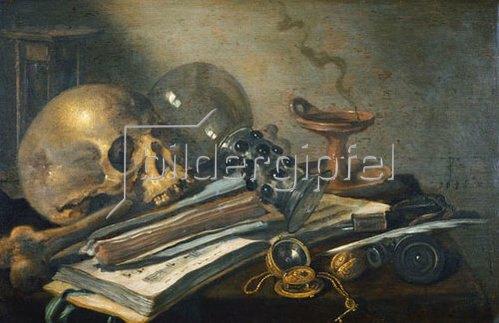 Pieter Claesz.: Vanitas-Stilleben. 1656