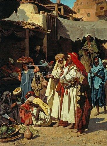 J Carnelli: In einem arabischen Souk.