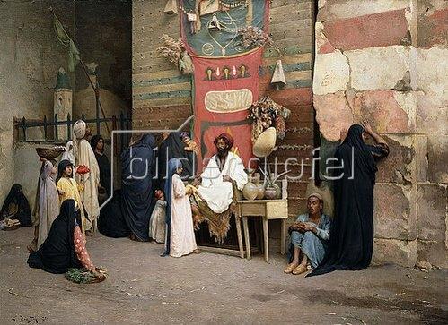 Ludwig Deutsch: Heiler in einem arabischen Souk. 1891