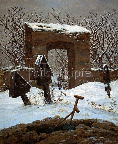 Caspar David Friedrich: Friedhof im Schnee