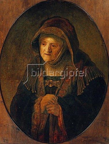 Rembrandt van Rijn: Die Mutter des Künstlers als Prophetin Hannah. 1639