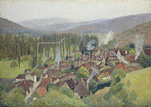 Henri Martin: Blick auf Labastide du Vert, Frankreich. 1935