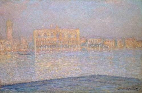 Claude Monet: Blick von Santa Maria Maggiore auf den Dogen-Palast, Venedig. 1908