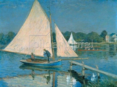 Claude Monet: Segelboote in Argenteuil.