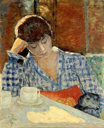 Pierre Bonnard: In Gedanken versunken (Frau, Hund und Stillleben)
