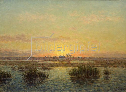 Per Ekström: Sonnenuntergang über Oland. (o.J.)