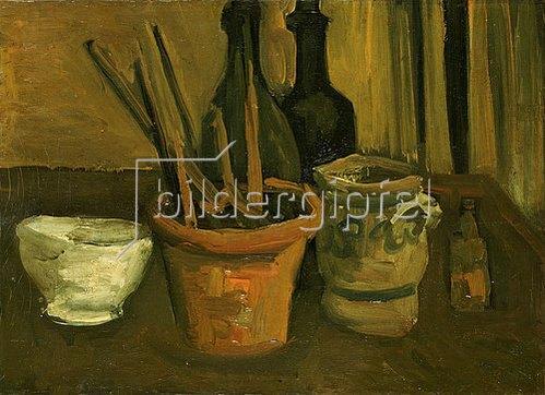 Vincent van Gogh: Stillleben mit Pinseln in einem Blumentopf   1884/1885