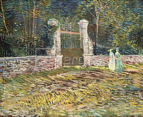 Vincent van Gogh: Eingang zum Parc de Voyer-d'Argenson in Asnières. 1887