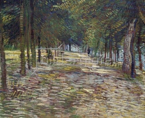 Vincent van Gogh: Allee im Parc de Voyer-d`Argenson in Asnieres   1887