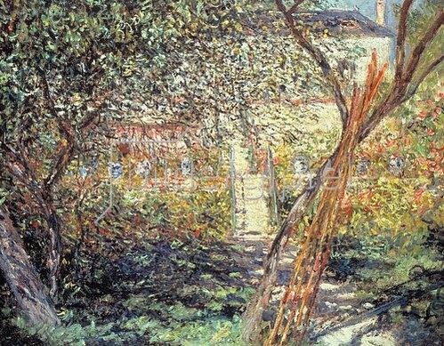 Claude Monet: Der Garten in Vétheuil. 1881