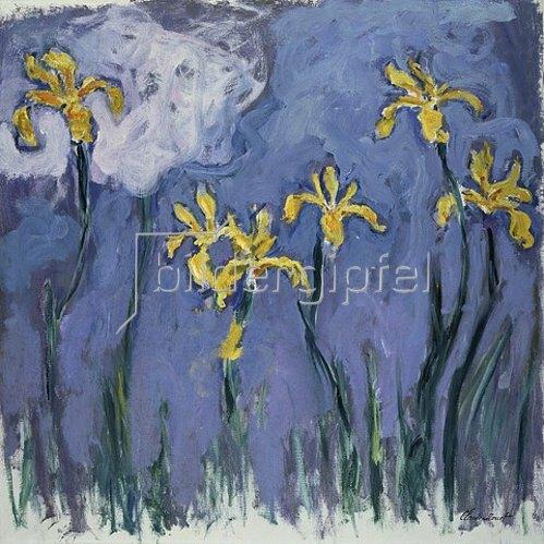 Claude Monet: Gelbe Lilien und rosa Wolke. Um 1918