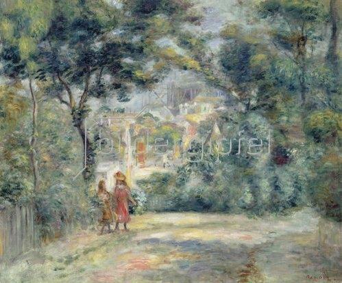 Auguste Renoir: Blick durch Bäume auf Sacre-Coeur, Paris 1905