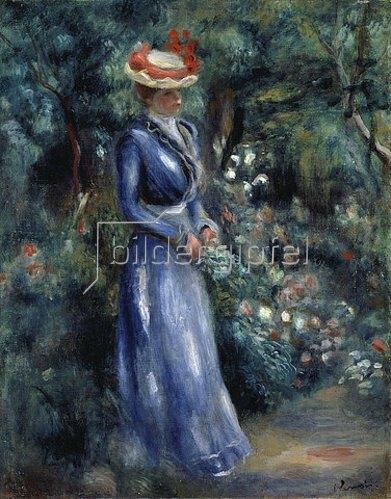 Auguste Renoir: Dame in blauem Kleid im Park von Saint-Cloud. 1899