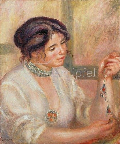 Auguste Renoir: Bildnis einer Dame mit Perlenkette. 1910