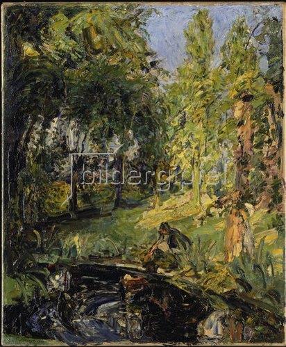 Max Slevogt: Die Auffindung des Mosesknaben (Antonie am Teich)   1913