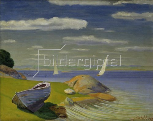 Harald Sohlberg: Boot am Ufer im Viksfjord. 1918