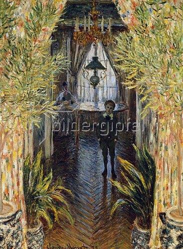 Claude Monet: Blick in ein Appartement mit Jean und Camille Monet. 1875