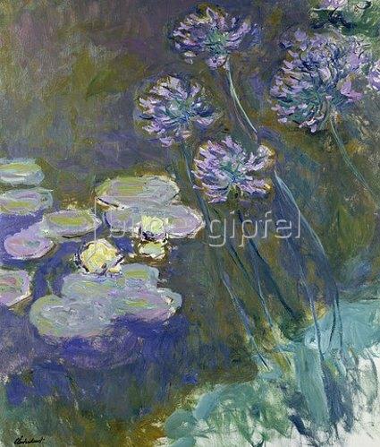 Claude Monet: Gelbe Seerosen und Agapanthes. 1914-17.