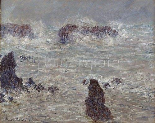 Claude Monet: Sturm an der Felsenküste der Belle-Ile. 1886