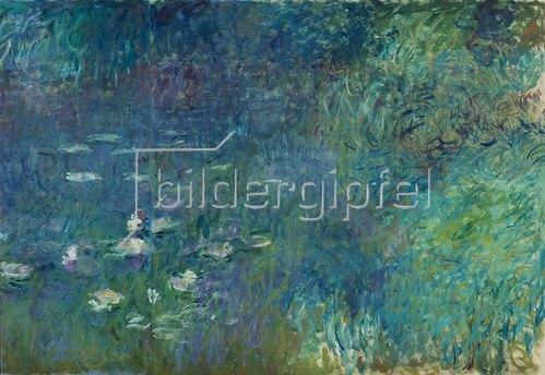 Claude Monet: Rechter Teil des großen Seerosenbildes im Musée de l`Orangerie