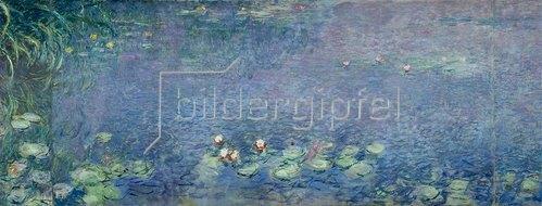 Claude Monet: Rechtes Mittelteil des großen Seerosenbildes im Musée de l`Orangerie.