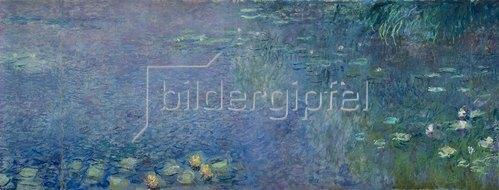 Claude Monet: Linkes Mittelteil des großen Seerosenbildes im Musée de l`Orangerie.