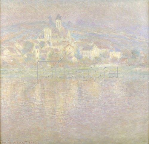 Claude Monet: Vétheuil bei Sonnenuntergang      wahrscheinlich 1900