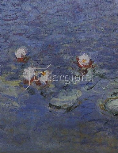 Claude Monet: Detail aus dem Seerosenbild im Musée de l`Orangerie, Süd