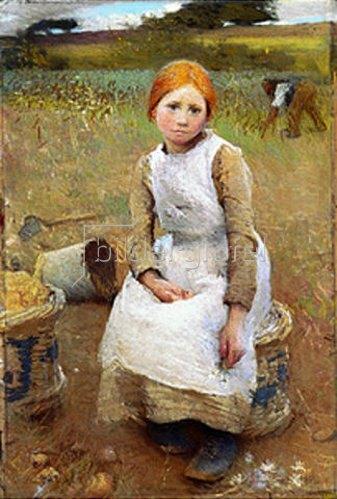 Sir George Clausen: Rose (kleines Bauernmädchen)