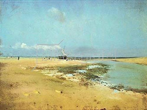 Edgar Degas: Strand bei Ebbe. 1869