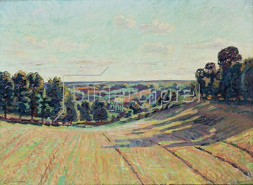 Armand Guillaumin: Hügellandschaft in La Creuse. Ca. 1900