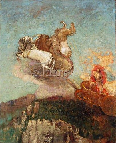 Odilon Redon: Der Wagen des Apollo. 1907/08