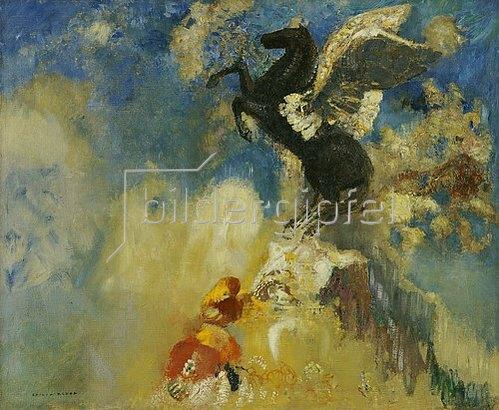 Odilon Redon: Der schwarze Pegasus. 1909/1910
