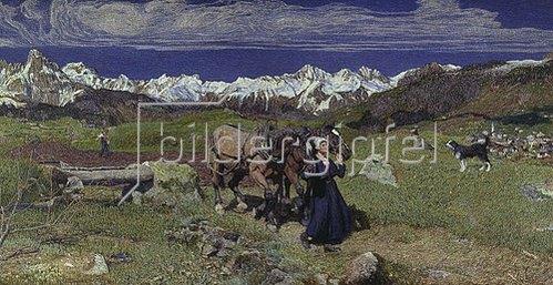 Giovanni Segantini: Frühling in den Alpen. 1897