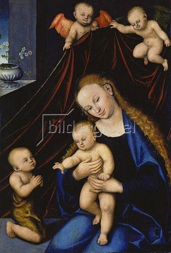 Lucas Cranach d.Ä.: Maria mit dem Kind und dem Johannesknaben.