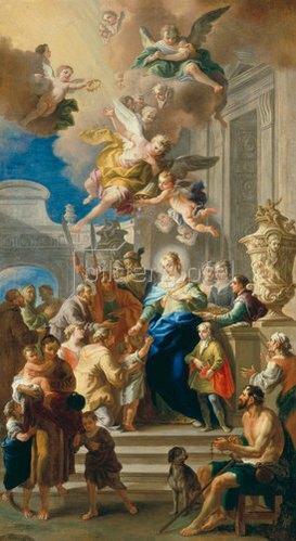 Daniel Gran: Die hl. Elisabeth von Ungarn verteilt Almosen. 1736/37
