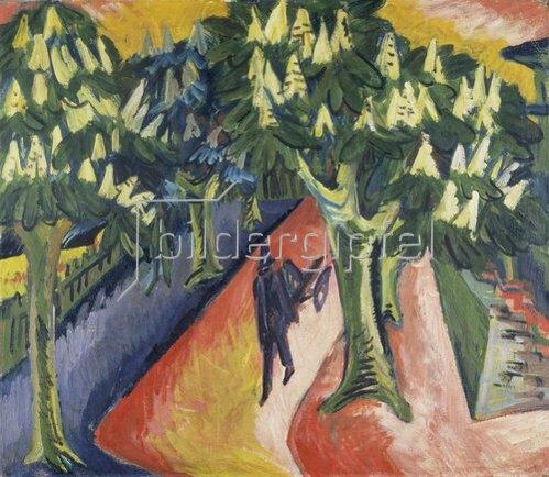 Ernst Ludwig Kirchner: Kastanien-Allee. 1911