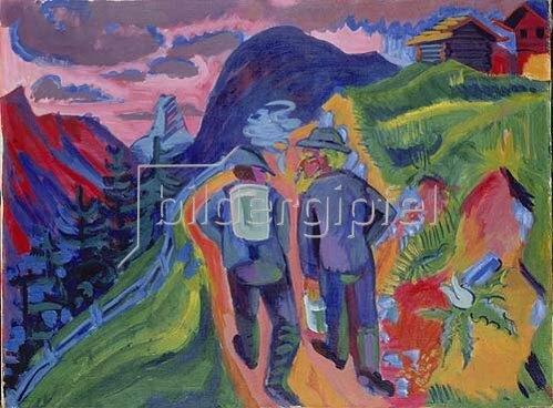 Ernst Ludwig Kirchner: Alpweg nach dem Gewitter. 1923/1924