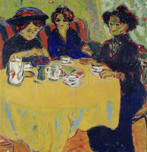 Ernst Ludwig Kirchner: Kaffeetafel. 1907