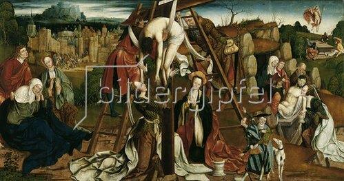Niederrheinischer Meister: Kreuzabnahme. Um 1530
