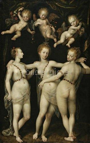 Dirk de Quade van Ravesteyn: Die drei Grazien als Verkörperung der Jahreszeiten. Um 1600