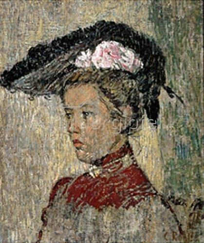 Christian Rohlfs: Dame mit Hut. 1901