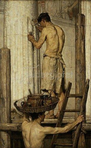 Christian Rohlfs: Römische Bauleute.  1879